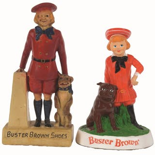Here are two Buster Brown children's shoes that span fifty years in age