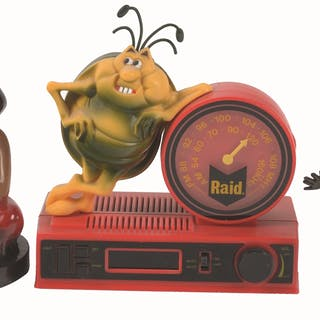 Featured in this lot is the infamous Raid Bug in the form of a clock radio