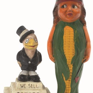 This lot contains two highly sought after advertising pieces from the 1920's