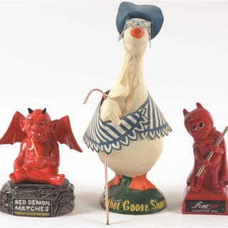 The 1950's Mother Goose Shoes store display is the center piece of this group