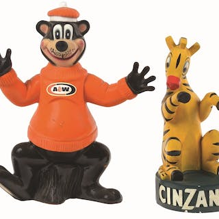 These two happy characters are A&W Root Beer and Cinzano Italian vermouth