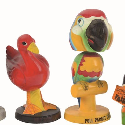 This lot of 1950's-60's bobble heads include Weatherbird