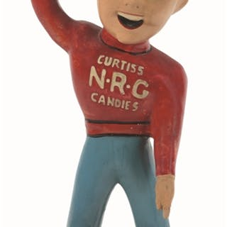 The Baby Ruth N-R-G boy is a classic and hard to find advertising statue