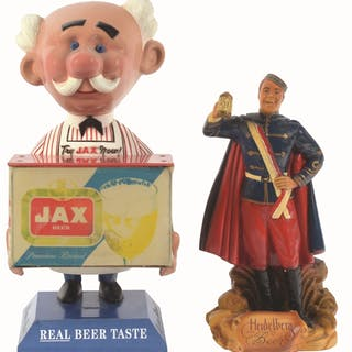 This lot contains the famous JAX beer plastic advertising...