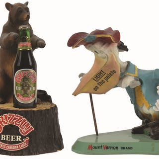 The plastic Grizzly beer statue from the 1970's is in...