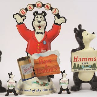 Here is a lot of vintage Hamm's Beer Bear advertising pieces