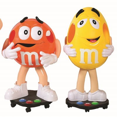 This is a collection of six life size M&M store display pieces