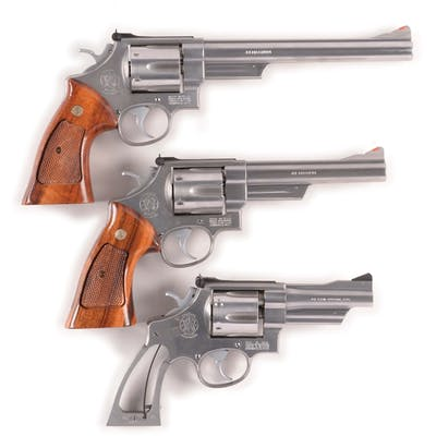 Lot consists of: (A) Model 629-1 Smith & Wesson revolver with stainless steel