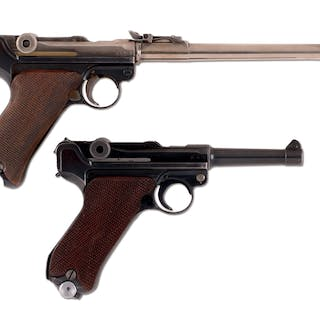 Lot consists of: (A) Features include round barrel with...