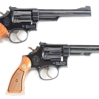Lot consists of: (A) K frame Model 19-3 Smith & Wesson...