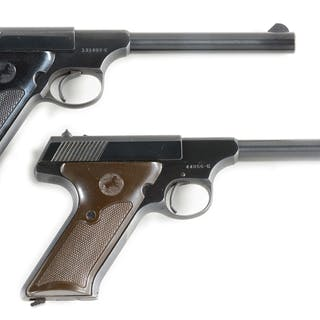 Lot consists of: (A) Colt Huntsman semi-automatic pistol...