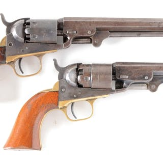 "Lot consists of (A) Model 1849 featuring the scarce 6"" octagon barrel"