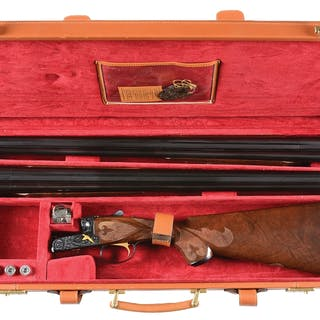 Two barrel set with two beavertail forends