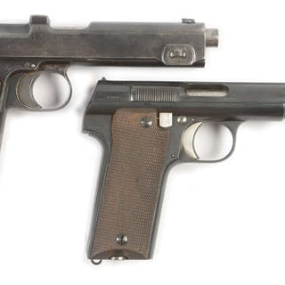 Lot consists of two WWI and WWII era semi-automatic pistols