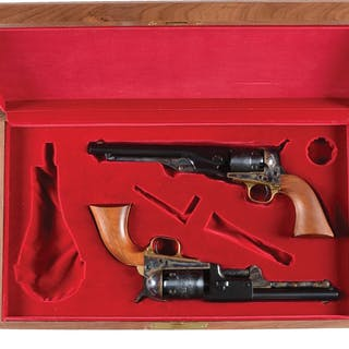Lot consists of a consecutive cased pair of Colt 2nd...