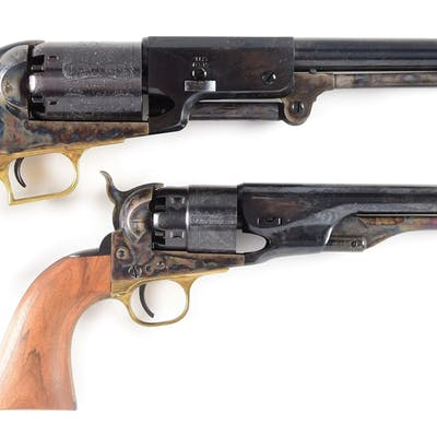 Lot consists of: (A) Colt 1847 2nd Generation Walker with