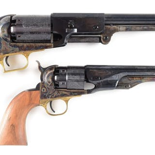 Lot consists of: (A) Colt 1847 2nd Generation Walker with one piece walnut grips