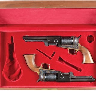 Cased Pair of Colt 2nd Generation Blackpowder Series 2nd...