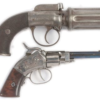 Lot consists of (A) Classic pre-Civil War Pepperbox revolver