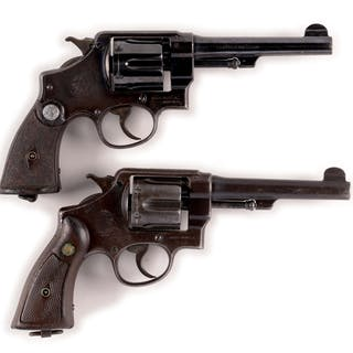 Lot consists of a pair of S&W Model 1937 Brazilian Contract revolvers