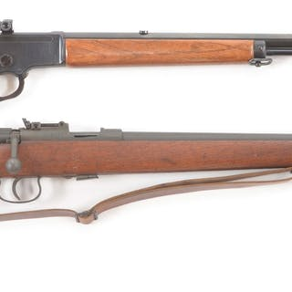 Lot consists of (A) Winchester 1890 that has been...
