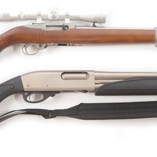 Lot consists of (A) Ruger 10/22 semi-automatic rifle with...