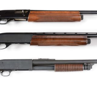 Lot consists of (A) Winchester Super-X Model 1 12 Bore with plain barrel