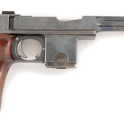 Features include round barrel with fixed sights