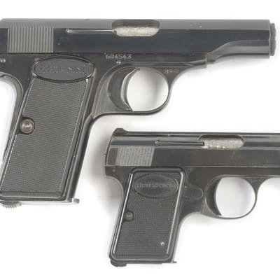 Lot consists of (A) Model 1955 semi-automatic .380 with...