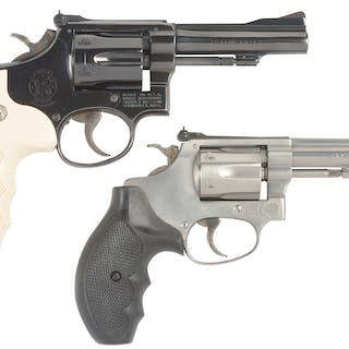 Lot consists of (A) S&W Model 18-3