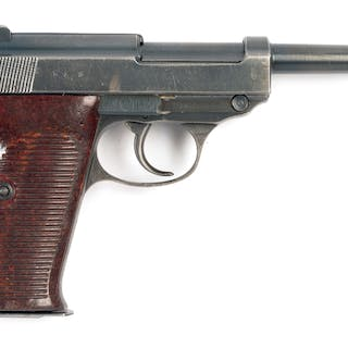 K series CYQ P-38 pistol with brown Bakelite grips and all matching numbers