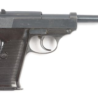 U series CYQ P-38 pistol with dark brown Bakelite grips