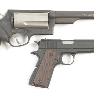 Lot consists of a Taurus Judge revolver and a Browning 1911-22 pistol