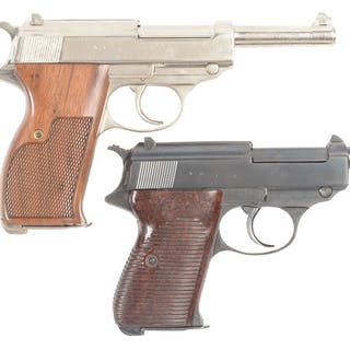 Lot consists of: (A) AC 42 stack date P-38 pistol with...