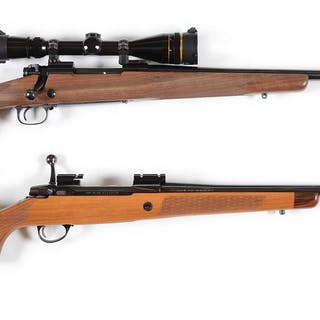 Lot consists of: (A) Winchester Super Grade Model 70 bolt...