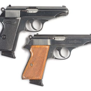 Lot consists of (A) 1972 dated Walther PP with blue...