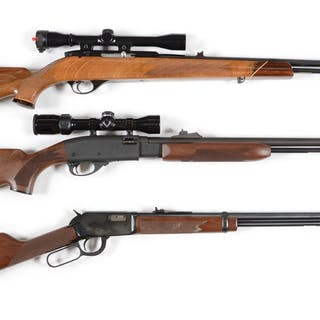 Lot consists of: (A) Beautiful Weatherby Mk XXII...