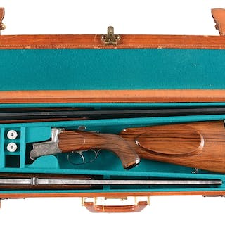 """(1951) 23 - 5/8"""" double rifle and 27 - 5/8"""" double..."""