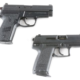 Lot consists of: (A) Sig Sauer P229 with factory box and...