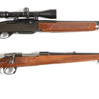Lot consists of (A) Remington Model 742 rifle