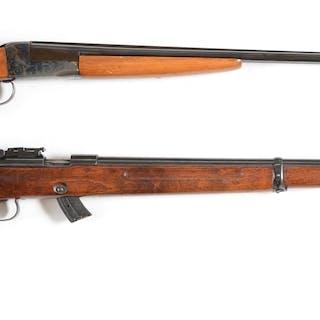 Lot consists of (A) Stevens Model 311A SxS .410 shotgun