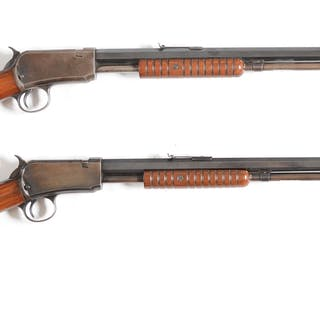 Lot consists of (A) Made in 1913 and chambered for the .22 short cartridge
