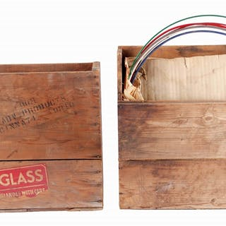 Lot Consists Of: Two Original Wooden Shipping Crates for Globe Lenses