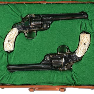 Lot consists of: two revolvers that feature top break