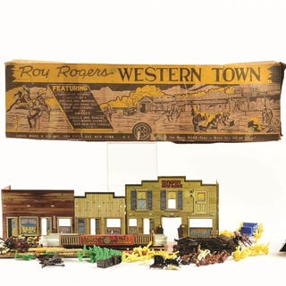 Lot includes two shooting galleries: one is a Wyandotte Posse in original box