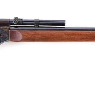 """This beauty features a 28"""" round barrel in .22 rimfire caliber"""