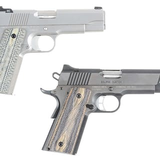 Lot consists of (A) Dan Wesson Valor V-Bob 1911 with...
