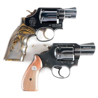 "Lot consists of (A) Smith & Wesson Model 10 M&P with 2"" blue barrel"