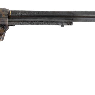 There is no factory letter on this engraved Colt but it is signed JRF at butt