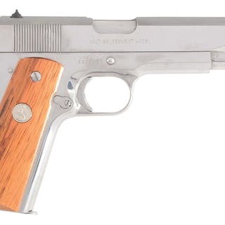 "The custom gun shop label reads ""Gvt Model Silver Star..."